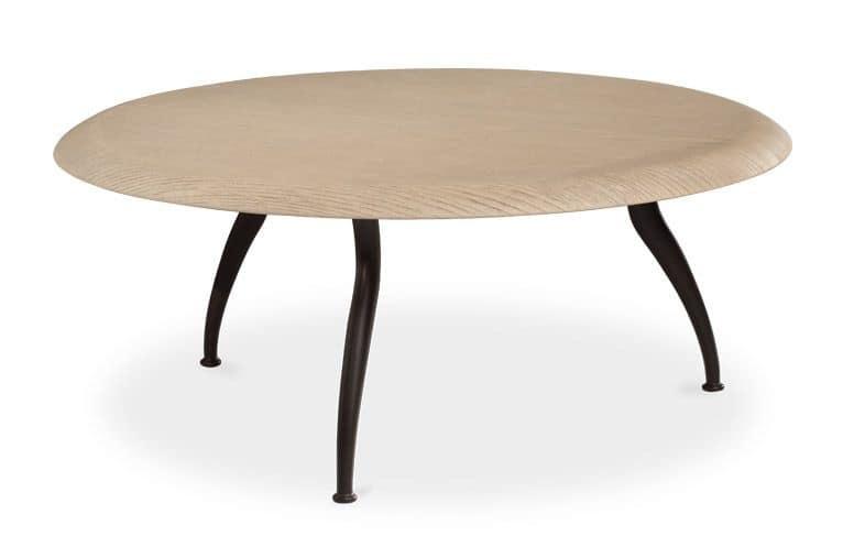 Comodino Moderno Lineare Narciso Cantori : Tavolino per centro sala con gambi in ferro conificato