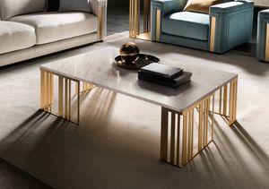ATMOSFERA tavolino 1, Tavolino in metallo con piano in marmo