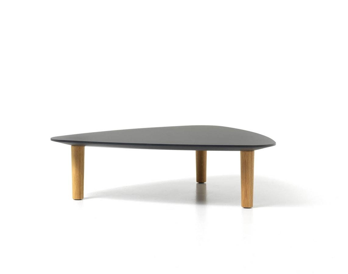 Tavolino moderno per centro sala con piano in laminato for Centro tavolo moderno
