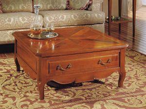 Canaletto tavolino, Tavolino quadrato con cassetto