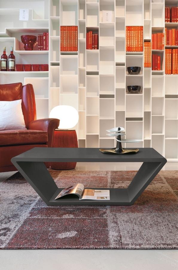 CONE TL506, Tavolino rettangolare laccato opaco