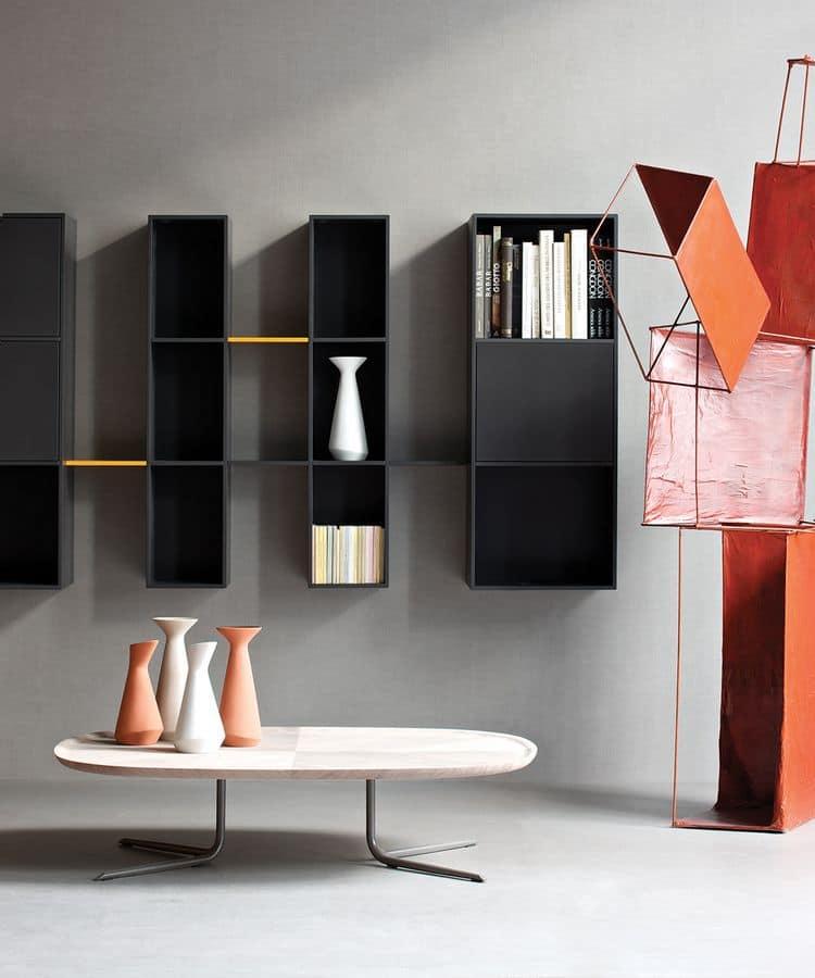 Tavolino Moderno Metallo Kim : Tavolino moderno struttura in metallo piano legno