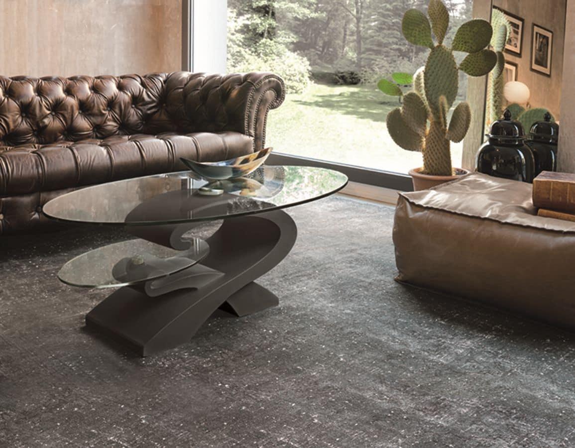 Tavolini da salotto con piano in vetro idfdesign - Tavolini salotto amazon ...