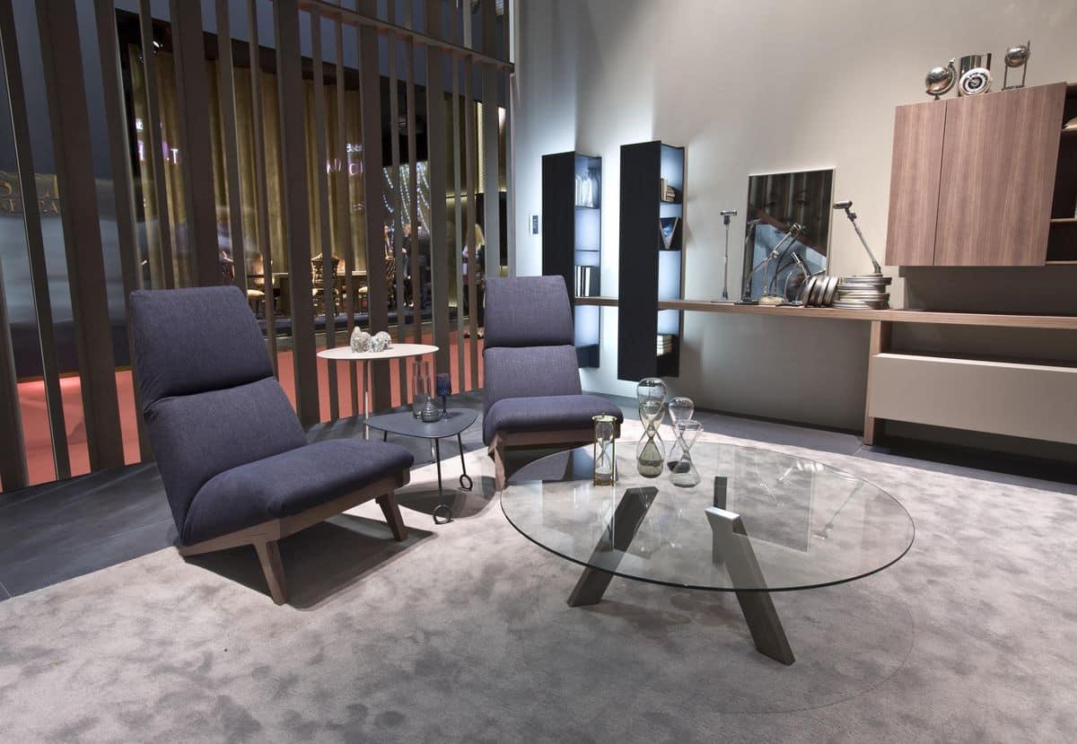 Tavolino con piano in vetro adatto per salotti moderni for Salotti moderni design