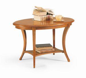 Friedrich tavolino, Tavolino basso in legno, con uno stile classico