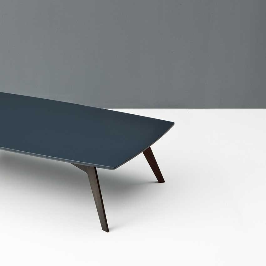 Ghost, Tavolino moderno in legno massello per salotto