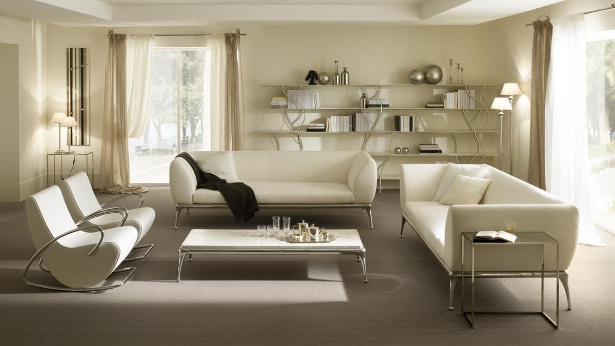 Tavolo Cucina Decorato Jack Cantori : Tavolino per centro sala in alluminio e legno patinato