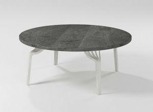 Ming coffee table, Tavolino rotondo con base in ferro