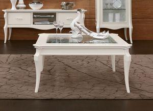 MONTE CARLO / tavolino da salotto, Tavolino da salotto con piano in vetro