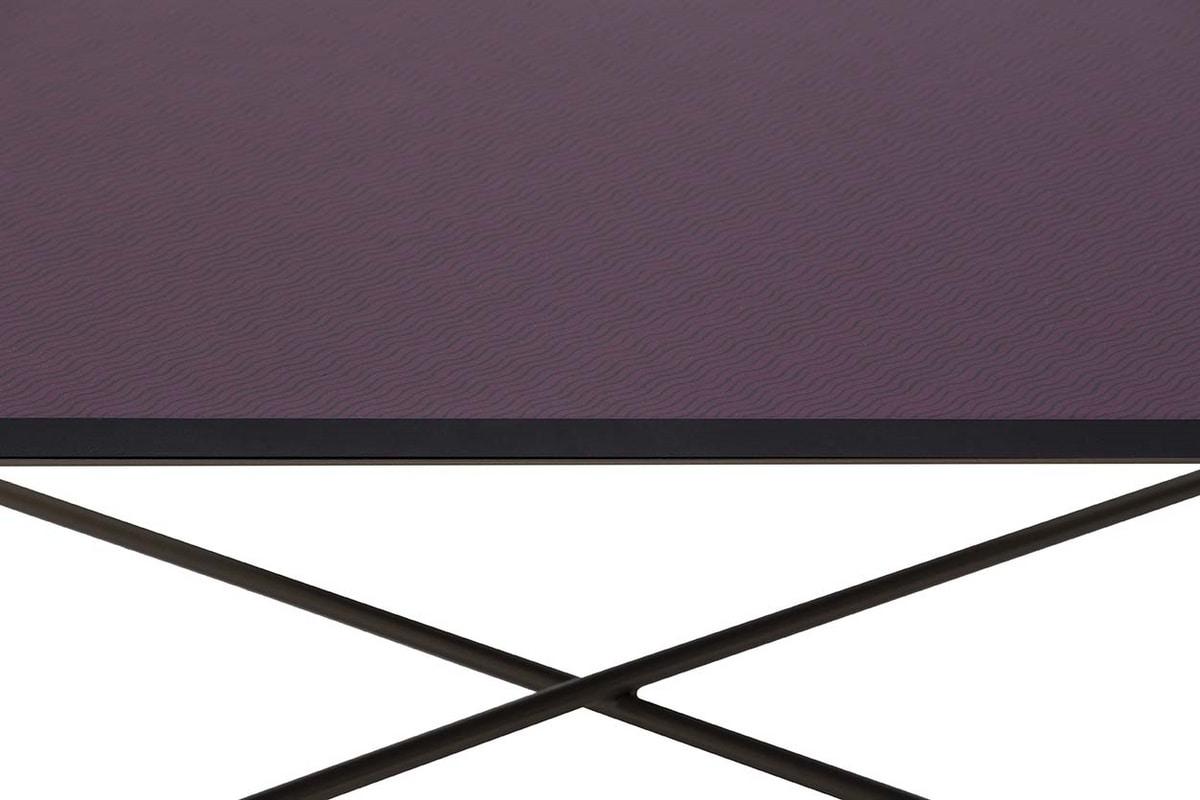 NORMAN, Tavolini con struttura in metallo e top in MDF serigrafato