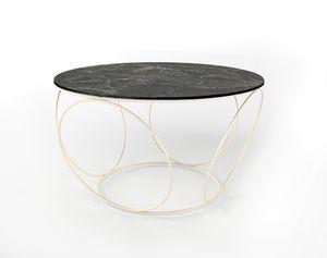 Sfera, Tavolino con base in ferro, piano tondo