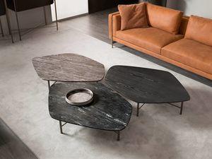Shangai tavolino, Tavolino con base in ferro forgiato