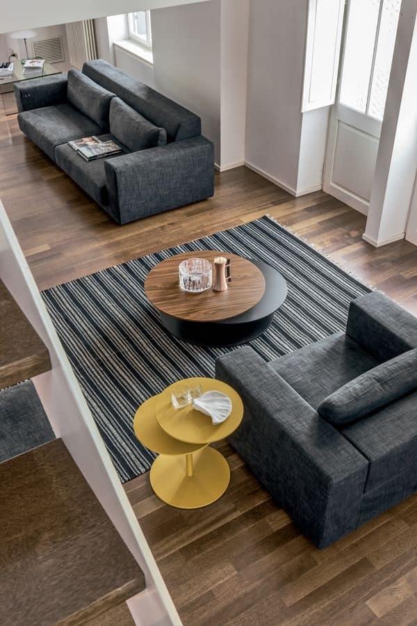 Tavolino decorativo a tre piani per salotto moderno idfdesign - Tavolini tonin casa ...