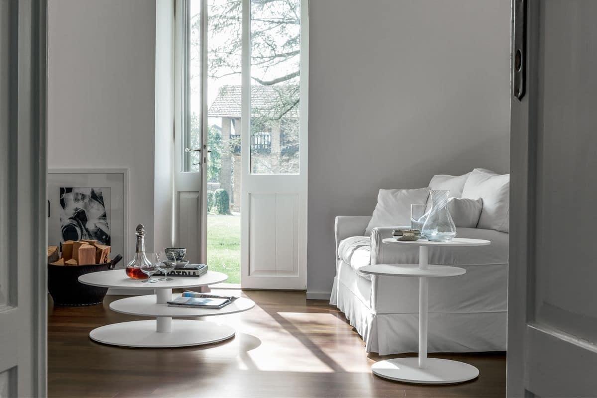 Tavolino decorativo a tre piani per salotto moderno for Tavolino per salotto