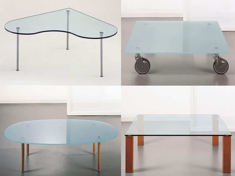 t101 misura, Tavolino in vetro, anche con ruote