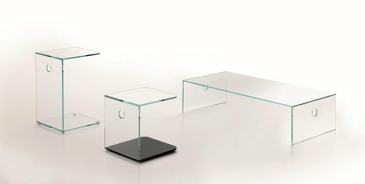 t19 atlantico, Tavolino in cristallo