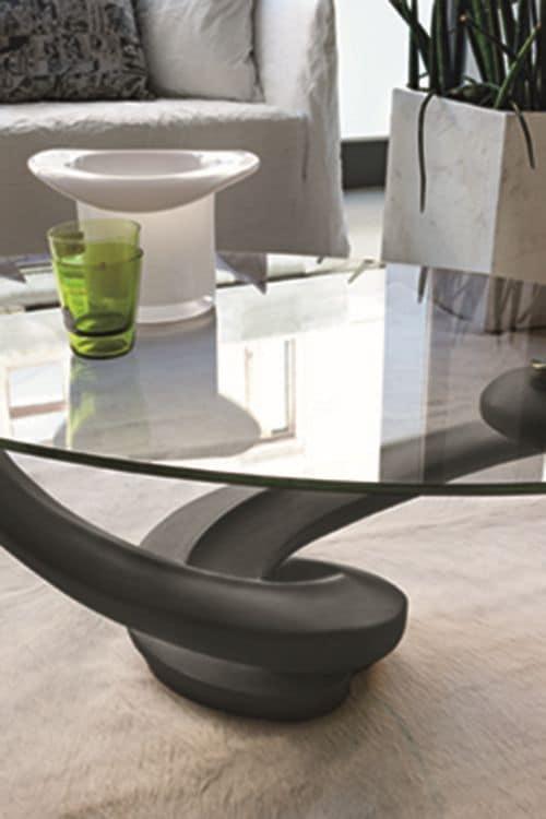 Tavolini da salotto con piano in vetro idfdesign for Tavolini moderni