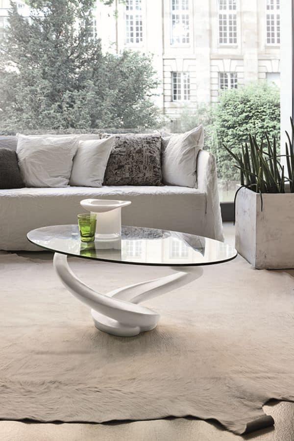 tavolini da salotto con piano in vetro idfdesign