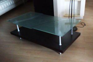Tavolino 06, Tavolino rettangolare con piano in vetro