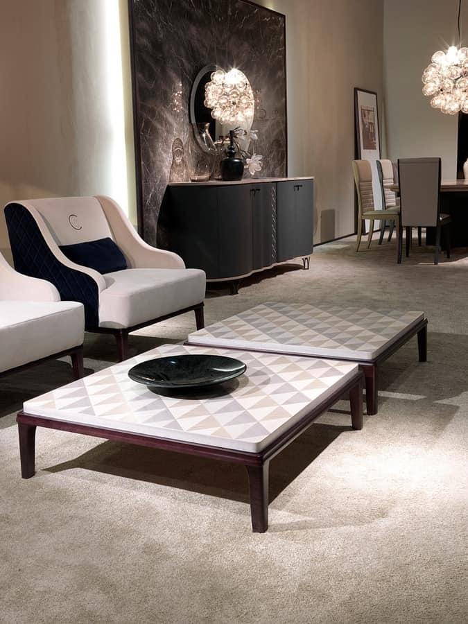 Tavolo quadrato per salotto, in legno | IDFdesign