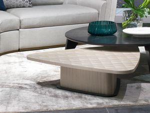 TL62 Corner tavolino, Tavolino in legno, forma trapeziodale