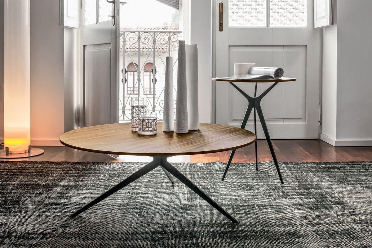 Tavolino disegno lineare vari finiture di piano per - Tavolini tonin casa ...