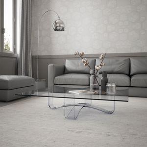 Velar 64 square, Tavolino quadrato in cristallo