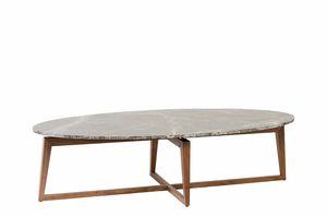 Zen tavolino, Tavolino in noce, con piano in marmo