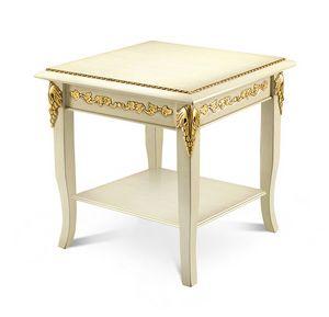 1470LQ/TL, Tavolino porta lampada, in legno intagliato