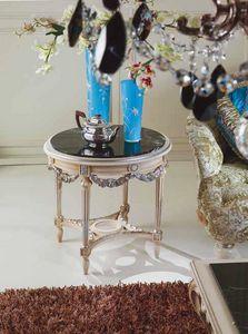 2894 tavolino, Tavolino con piano in marmo nero