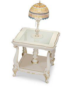 4613/TL, Tavolino portalampada classico, con lampada