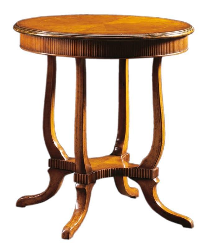 Tavolino Tondo Inglese.Tavolino In Legno Lavorato A Mano In Stile Inglese Idfdesign