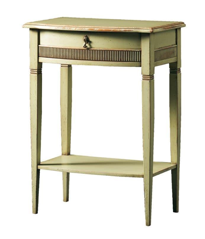 Aristotele FA.0143, Tavolino con 2 ripiani, per alberghi e ristoranti di lusso