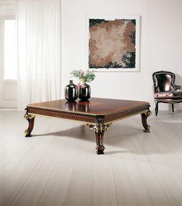 Art. 105, Tavolino classico intagliato artigianalmente