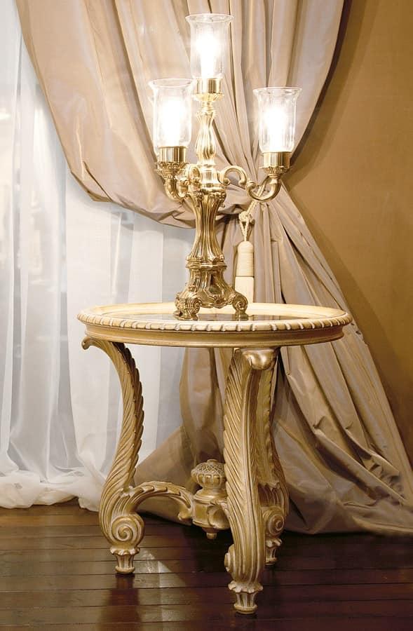 Art. 1055, Tavolino classico per salotto, intagliato a mano