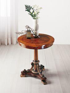 Art. 177, Tavolino tondo intarsiato, con cassetto