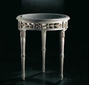 Art. 20518, Tavolino classico, con piano in vetro