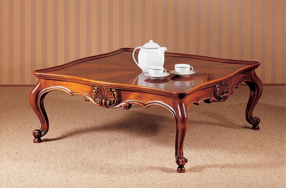 tavolino classico di lusso intagliato accuratamente per