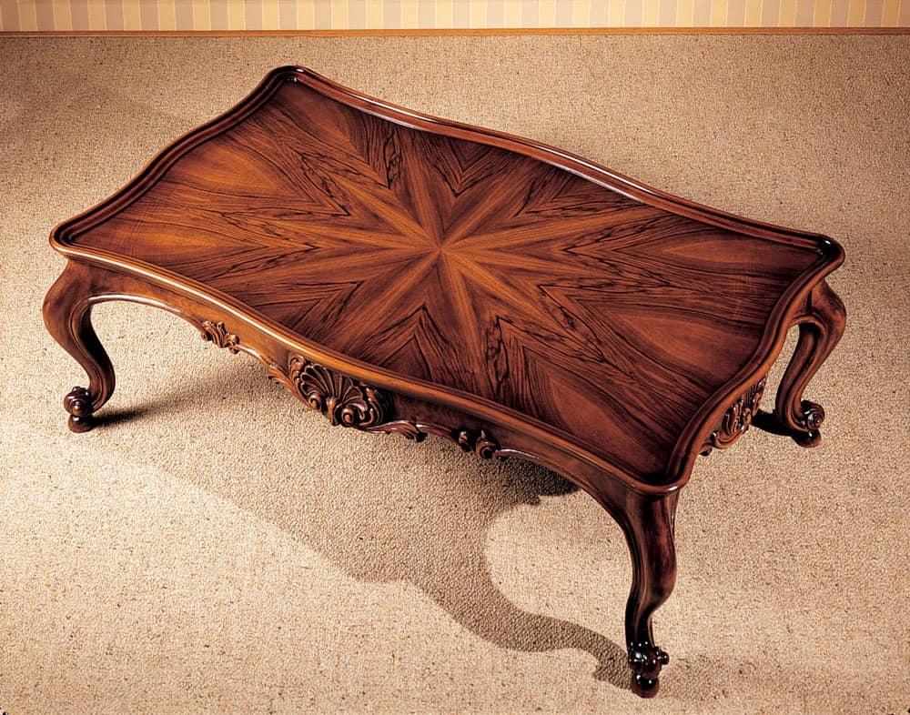 Art. 222/R, Tavolino con piano intarsiato, stile classico, per ville di lusso