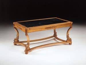 Art. 223 Nettuno, Tavolino di lusso, intagliato a mano, per hotel