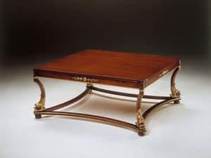 Art. 223/Q Nettuno, Tavolino classico in legno lavorato, per reception