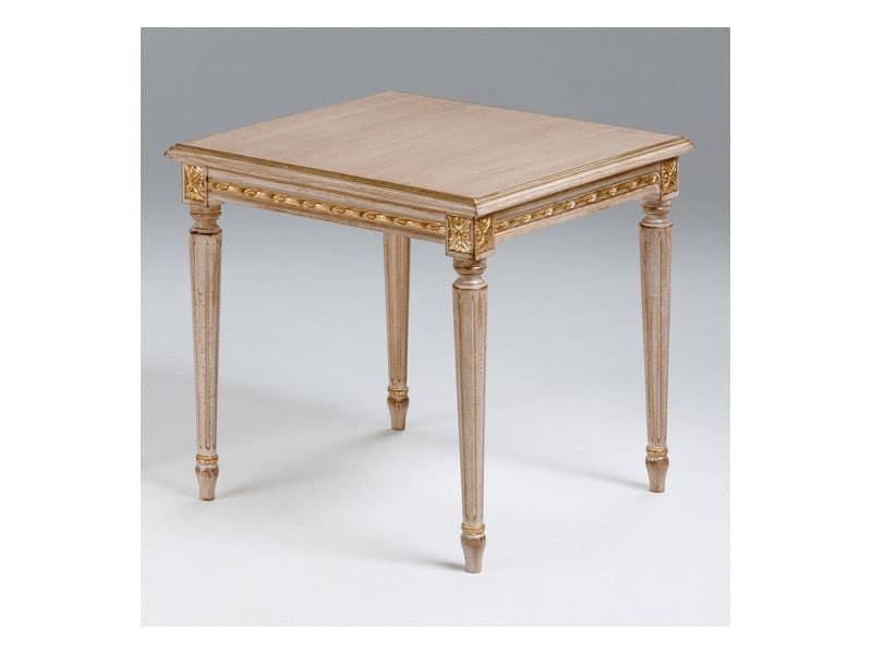 Tavolino in legno per salotto classico stile luigi xvi idfdesign