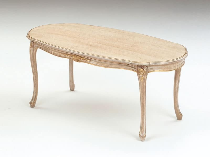 Art. 263, Tavolini in legno, finitura decapè, per suite di lusso