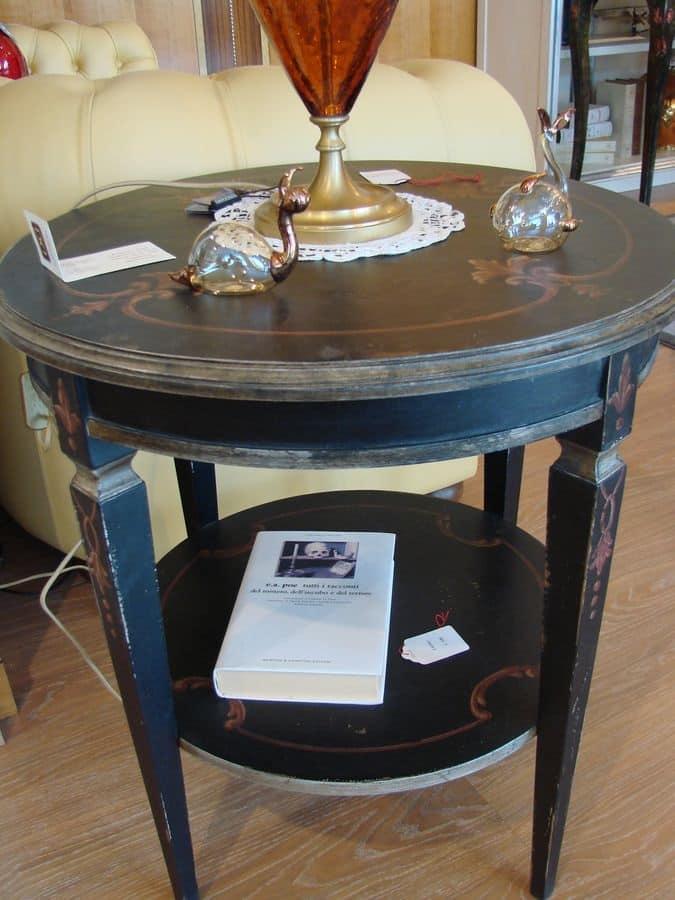 Tavolino rotondo con 2 piani per salotto classico - Tavolino salotto rotondo ...