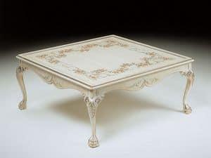 Art. 320/WD, Tavolino quadrato di lusso, decorati a mano, zona giorno