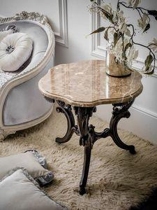 Art. 4074, Tavolino classico con piano in marmo