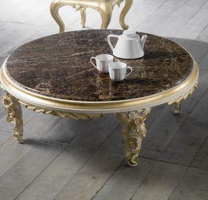 Art. 4083.099, Tavolino basso, con intagli floreali, stile classico