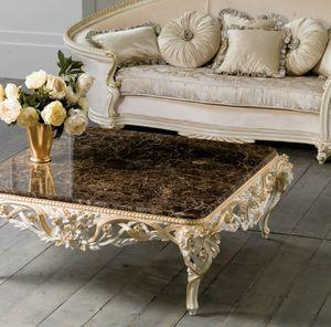 Art. 4087, Tavolino da salotto, con intagli floreali