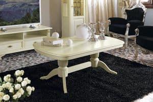 Art. 42311 Puccini, Tavolino da centro sala, per salotto classico di lusso