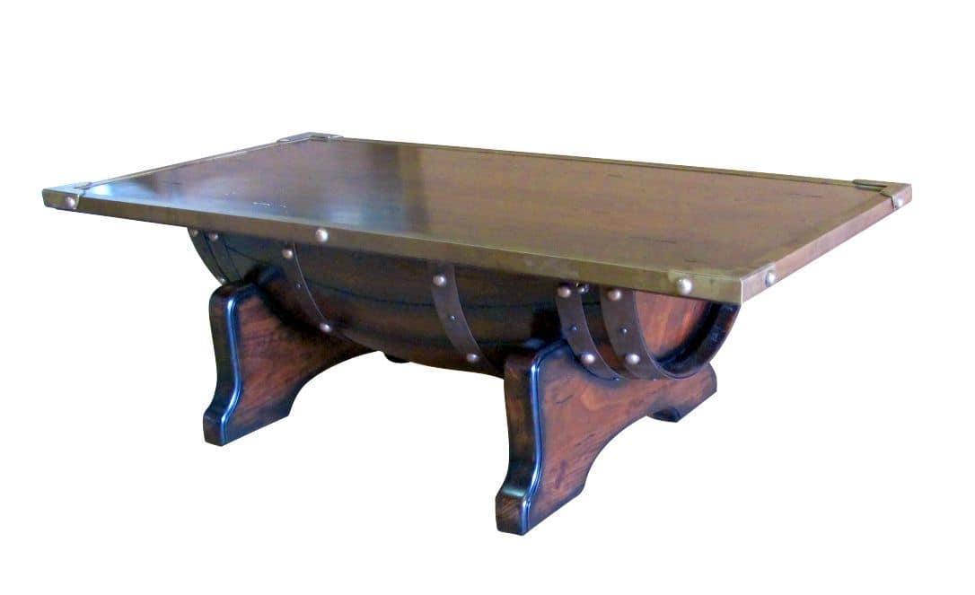 Tavolino da fumo bordature in ottone piano in legno idfdesign - Tavoli da fumo in legno ...